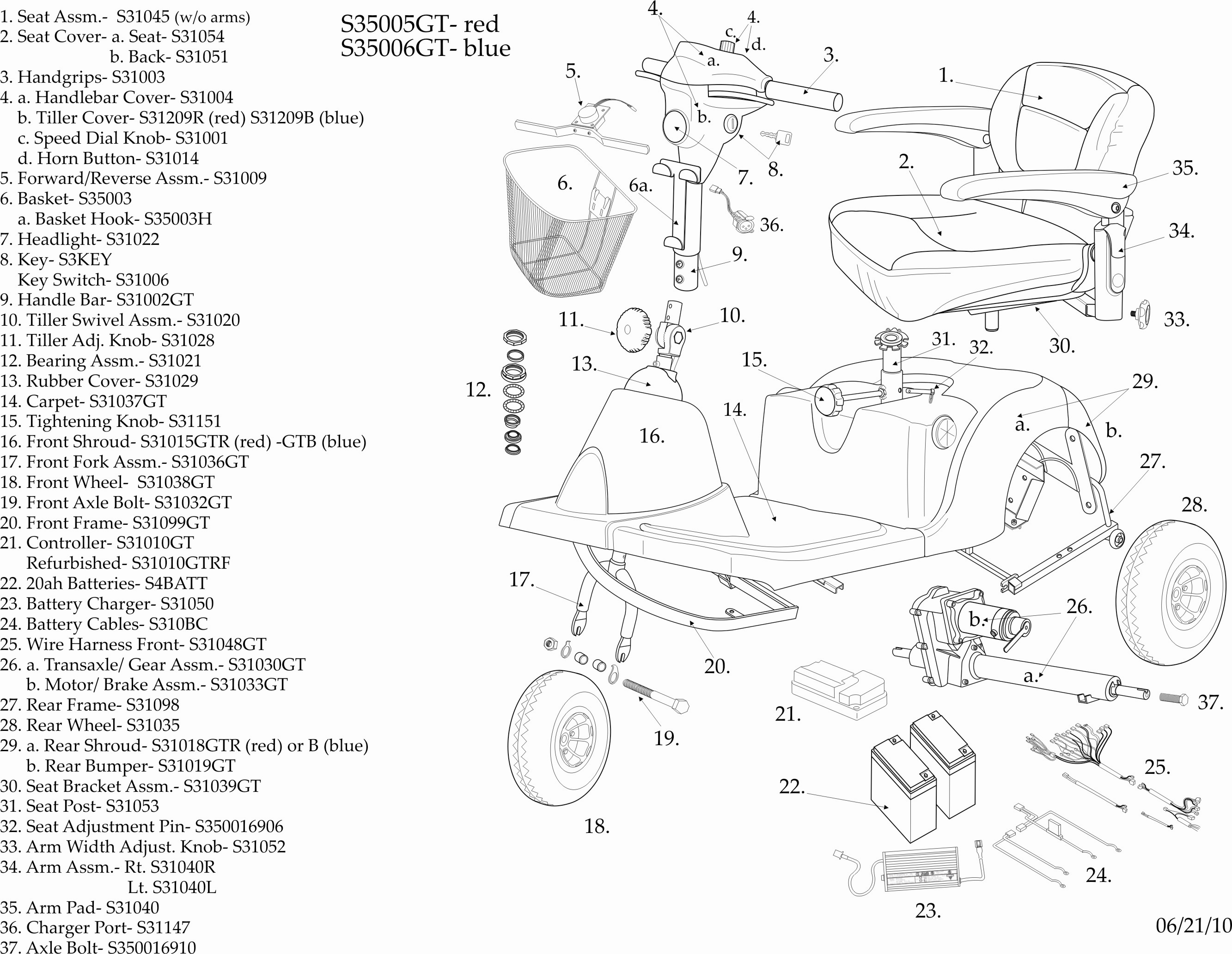 ... 1.6MB); Medical Scooter Parts Exploded (2-page PDF ...